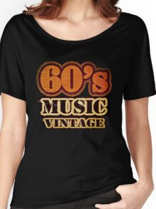 60's Music Vintage T-Shirt Women's Relaxed Fit T-Shirt