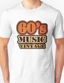 60's Music Vintage T-Shirt T-Shirt