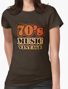 70's Music Vintage T-Shirt Womens Fitted T-Shirt