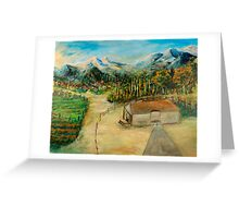 Mountain Villages Greeting Card