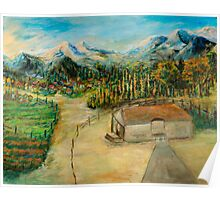 Mountain Villages Poster