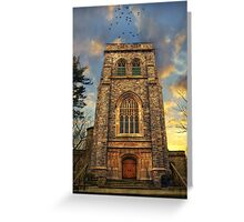 Sunset Gothic Greeting Card