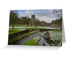 Fountains Abbey - Ripon - North Yorkshire Greeting Card
