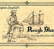 Pyrattica! 'Captain Longshaft's Rough Shag' Tobacco Label by Peter Chapman