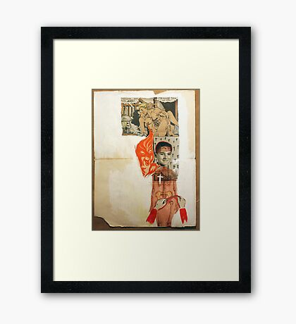 A POSSIBLE PORTRAIT OF THE AUTHOR TORMENTED BY HIS BAD THOUGHTS Framed Print
