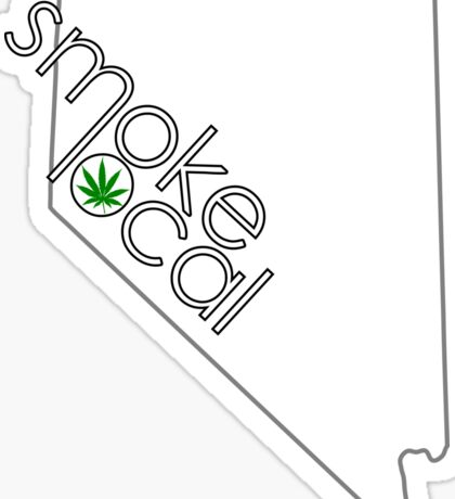 Smoke Local Weed in Nevada (NV) Sticker