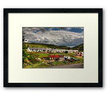 Miner's Row Framed Print