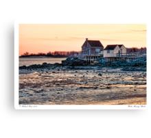 Winter Morning Shacks Canvas Print