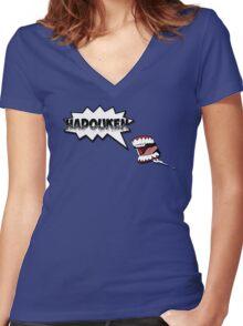Hadouken 2 Women's Fitted V-Neck T-Shirt