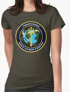NAVY Cyber Forces Womens Fitted T-Shirt