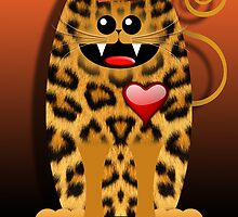 LOVELY LEOPARD (card) by peter chebatte