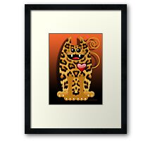 LOVELY LEOPARD (card) Framed Print