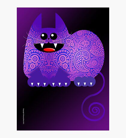 PAISLEY CAT  (card) Photographic Print