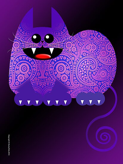 PAISLEY CAT  (card) by matt40s