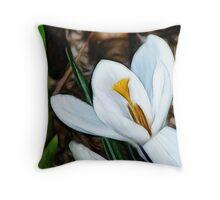 Crocus fractilius glow Throw Pillow
