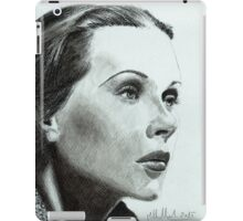 Hedy Lamarr - star from the Golden Age of Hollywood iPad Case/Skin
