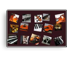 The Crazy Music Collage Canvas Print