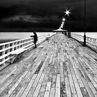 Fishing off the Pier by Fred McKie