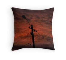 Sunset in the Shire Throw Pillow