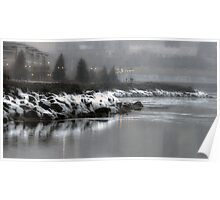 Icy Lakeshore Poster