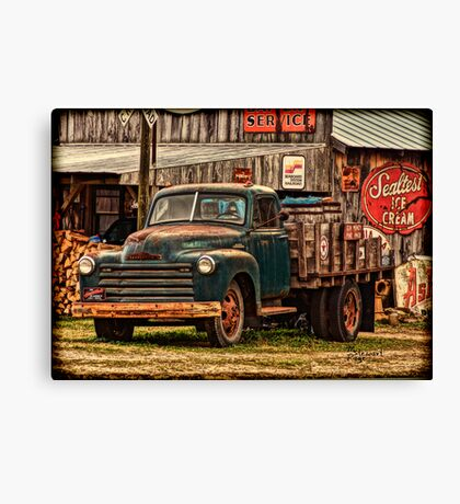 """""""Old Workhorse From The Past"""" Canvas Print"""