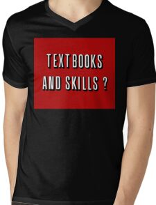 textbook and skills Mens V-Neck T-Shirt