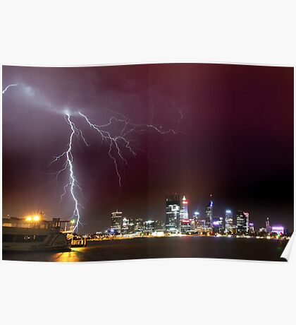 Storm over Perth Poster