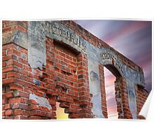 Days gone by.... New Norcia ruin's, Western Australia Poster