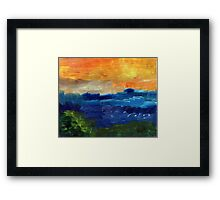 Afternoon Waves Framed Print