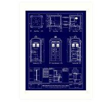 Doctor who TARDIS design  Art Print