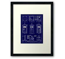 Doctor who TARDIS design  Framed Print