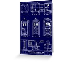 Doctor who TARDIS design  Greeting Card