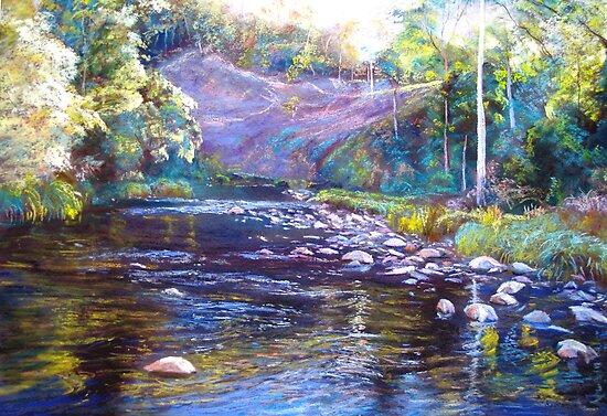 Rocks & Ripples - Howqua River by Lynda Robinson