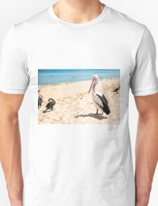 Birds resting on the beach T-Shirt