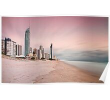 Early Rise at Surfers Paradise Poster