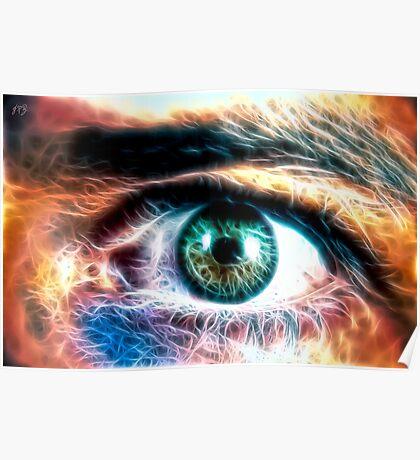 HDR Eye (fractal) Poster