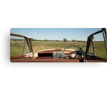 The Last View for a Rusty Car Canvas Print