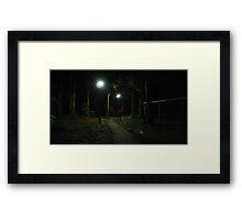 Lady Walking in the Dark Framed Print