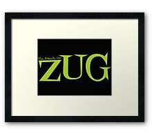 ZUG TITLE! Framed Print