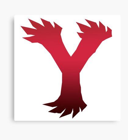 Pokemon Y Logo Canvas Print