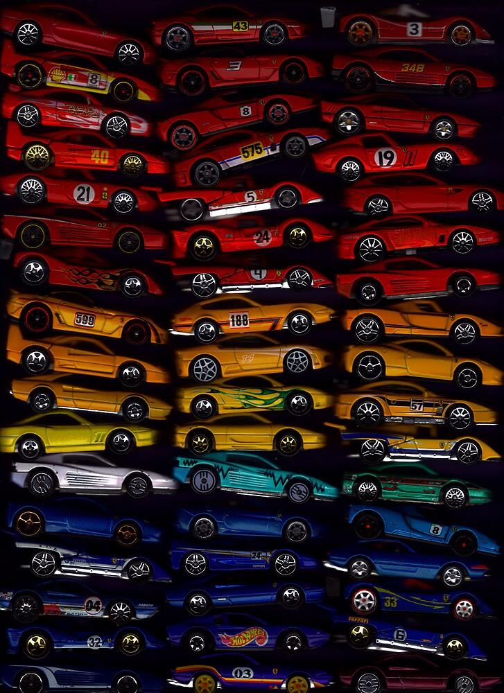 51 Hot Wheel Ferrari Rainbow by SteveBrandon