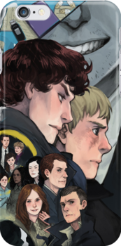 Sherlock Cell Phone Case by reapersun