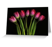 Seven Tulips Greeting Card