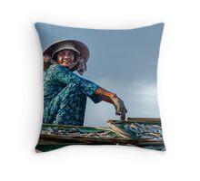 Working Woman of Vietnam Throw Pillow