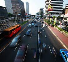 Jl Thamrin - Jakarta - Indonesia by Erin McMahon