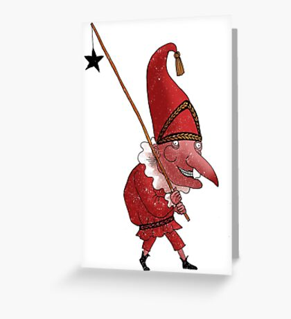 Mr. Punch and the Dark Star Greeting Card