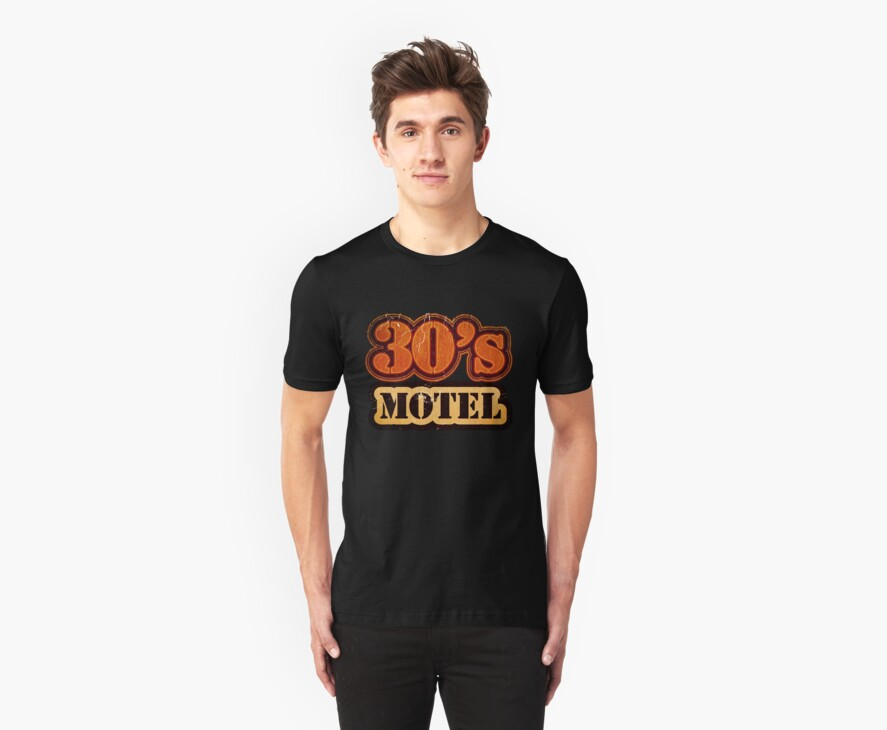 Vintage 30's Motel - T-Shirt by Nhan Ngo