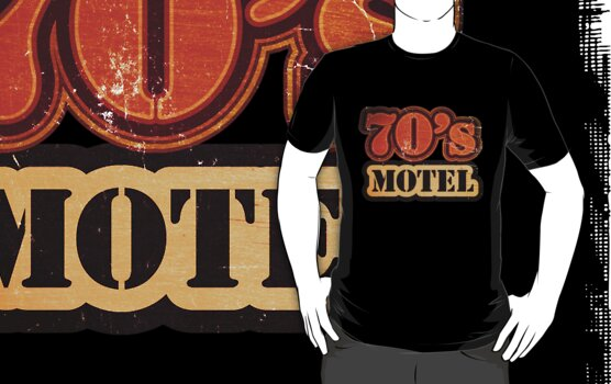 Vintage 70's Motel - T-Shirt by Nhan Ngo