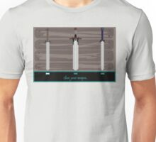 Pixel Sword Wall Unisex T-Shirt
