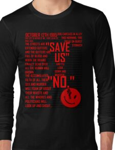 Rorshach's  Journal Typography Long Sleeve T-Shirt
